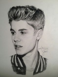 """40 God Level Celebrity Pencil Drawings,""""Behind every masterpiece, like the many failed attempts, it took to create it. Keep Going"""" – quoted Torrie Asai. Pencil sketches are great. Pencil Portrait Drawing, Portrait Sketches, Pencil Art Drawings, Realistic Drawings, Art Drawings Sketches, Horse Drawings, Pencil Sketch Drawing, Drawing Art, Justin Bieber Desenho"""