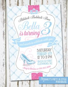 Hey, I found this really awesome Etsy listing at https://www.etsy.com/listing/219287021/cinderella-birthday-invite