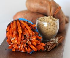 St.Mick fries are topped with the delicious duo–brown sugar & cinnamon. www.frenchfryheaven.com French Fry Heaven, Belgian Style, French Fries, Brown Sugar, Sweet Potato, Carrots, Cinnamon, Caramel, Sweet Tooth