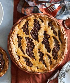 Our Autumn Leaf Pecan Pie doesn't require lots of time when you use our piecrust cutter and prepared pecan pie filling.