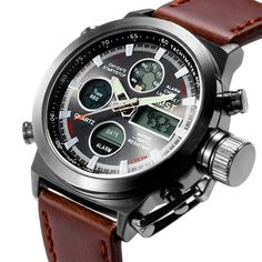 Men Top Brand Luxury quartz Watches electronic digital display Military watch Men sports watches 30ATM wristwatch