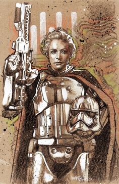 Captain Phasma by Tony Harris (from the collection of Pete Thrash)
