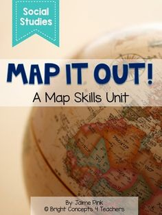 This map skills unit is full of ideas, posters, task cards, activities, and more to help teach your students how to use different maps!  17 Posters with pictures and definitions: Equator Hemisphere Latitude Longitude Key/Legend Compass Rose Cardinal Directions Intermediate Directions Globe Map Population Map Grid Map Scale Continent Country State  City  Activity Pages With Answer Keys: -Using A Map Key -Using A Map Key: California -Create Your Own Map Key -Making a Pirate Treasure Grid Map…