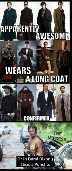 Long coat and poncho