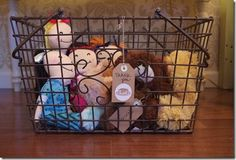 Chic Party: Doll and teddy bear favors at Pancakes and Pajamas birthday party!