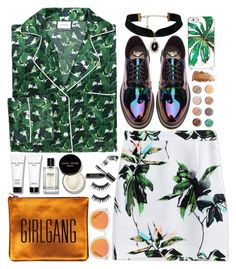 """""""In the Mix"""" by devil-in-a-new-dress ❤ liked on Polyvore featuring Poplin, Proenza Schouler, Bobbi Brown Cosmetics, Sarah Baily, Manic Panic NYC, Kate Spade, Dr. Martens, Terre Mère and Karen Walker"""