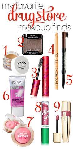 Amazing drugstore finds!  Some are much better than more expensive products.