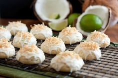 Coconut Lime Ricotta Cookies- will be making for our Christmas cookie giveouts and for me - favorite ingredients