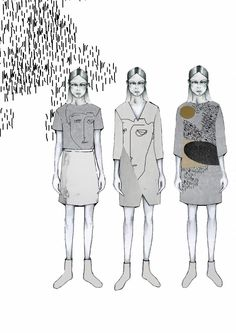 Fashion Sketchbook - fashion collection drawings; fashion illustrations; fashion portfolio // Lena Malevitis