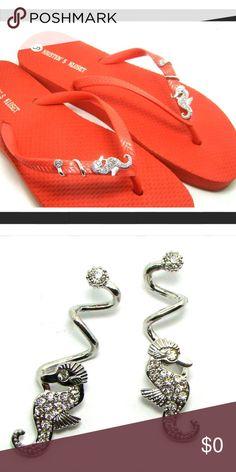🐠🐠Crystal Seahorse Flip Flop Charms🐠🐠 Crystal Seahorse Flip Flop Charms 156-02 Shoes