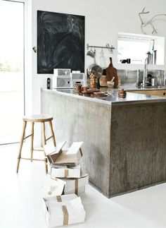Something like this but with wood counter top for our new bar area?