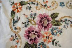 Marvelous Crewel Embroidery Long Short Soft Shading In Colors Ideas. Enchanting Crewel Embroidery Long Short Soft Shading In Colors Ideas. Embroidery Neck Designs, Crewel Embroidery, Ribbon Embroidery, Embroidery Patterns, Machine Embroidery, Butterfly Embroidery, Brazilian Embroidery, Seed Stitch, Embroidery Techniques
