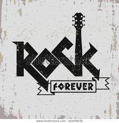 Image vectorielle de stock de Impression De Musique Rock Vintage Hipster 452976538 Rock music print, hipster vintage label, graphic design with grunge effect, tee print stamp design. Rock Vintage, Hipster Vintage, Vintage Graphic, Vintage Tees, Rock And Roll, Pop Rock, Rock Posters, Rock Tumblr, Rock Music Quotes