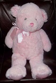 15-034-GUND-My-First-Teddy-MEDIUM-PINK-021029-Soft-Plush-SATIN-BEAR