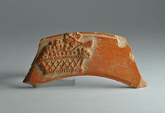African red slip ware sherd with basket 5