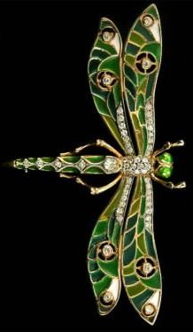 Art Nouveau enamel Dragonfly