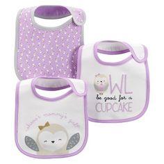 Just One You™Made by Carter's® Newborn Girls' 3 Pack Owl Bib Set - Purple