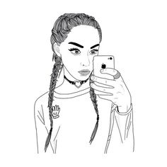 Untitled We Heart It ❤ liked on Polyvore featuring drawings, filler e outline
