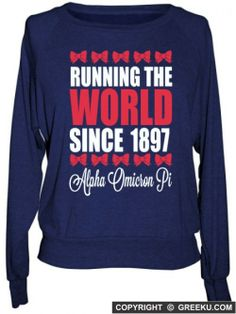Alpha Omicron Pi Boutique Running the World Raglan Pullover