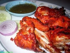 Tandoori Chicken is a very popular dish consisting of roasted chicken, yogurt, and spices. Posted by Nikki. Good Healthy Recipes, Healthy Dinner Recipes, Indian Food Recipes, Cooking Recipes, Amazing Recipes, Tandori Chicken, Good Food, Yummy Food