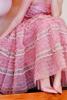 #Pink ruffled #dress