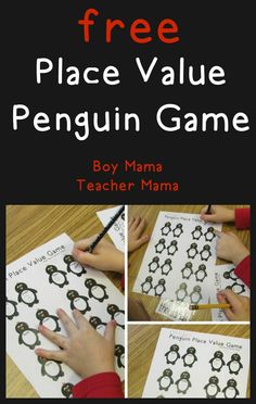 Teacher Mama: FREE Penguin Place Value Game {After School Linky}