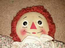 "Vintage 1947 Gruelle Raggedy Ann Doll I Love You Heart 16"" Knickerbocker 40s"