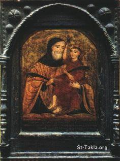 St-Takla.org Image: Saint Youssef El Naggar (Joseph the Carpenter), ancient icon صورة في موقع الأنبا تكلا: أيقونة أثرية تصور القديس يوسف الن...