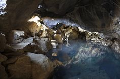This is a stunning underground lava cave with a warm pool fed by hot springs. It's a great, hidden place to take a warm soak on a cold day.