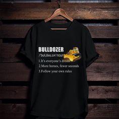 #Bulldozer Cool Shirts, T Shirts For Women, Tractor, Farmer, Mens Tops, Shopping, Fashion, Moda, Fashion Styles