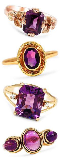 Beautiful Purple Rings <3