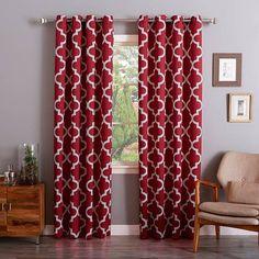 Cardinal Red Moroccan 52 x 84 In. Room Darkening Curtain Panel