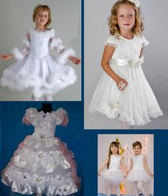 Платья снежинки для школьниц