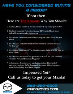 Have you considered buying a Mazda?