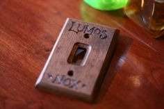 Lumos Nox Harry Potter light switch wall panel by Wands by Larsen,