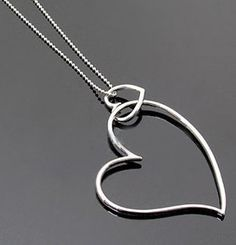 Cute double heart fashion pandant necklace