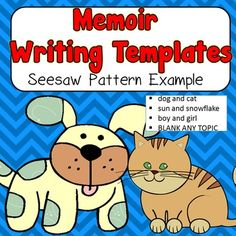 Memoir writing template using a seesaw pattern (full example included) with…