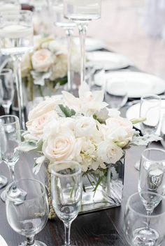 Wedding centerpiece idea; featured photographer: Elizabeth Garay Photography
