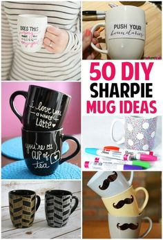 Check out this list of 50 sharpie mug ideas, http://www.coolcrafts.com/sharpie-mug-ideas/