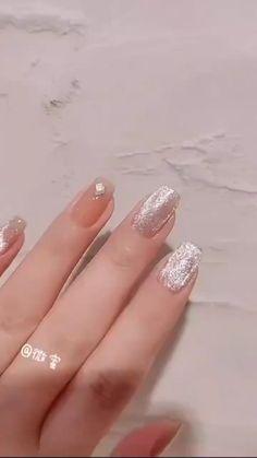Cute Acrylic Nails, Cute Nails, Pretty Nails, Trendy Nail Art, Stylish Nails, Sophisticated Nails, Oval Nails, Pink Nails, Nail Art Designs Videos
