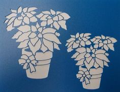 Plantilla de macetas de flor de Pascua