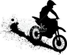 Dirt Bike Silhouette