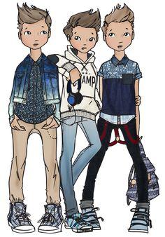teen boys SS14 - denim & Blues