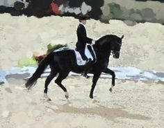Dancing with Shadows II from the Elizabeth Shatner Collection @ www.equestrian-interiors.com