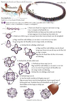 FREE Pattern - Netting technique with Swarovski Elements featured in Bead-Patterns.com Newsletter