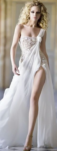 Sexy wedding gown for a badass chick! Beautiful Maxi Dresses, Sexy Wedding Dresses, Beautiful Gowns, Pretty Dresses, Wedding Gowns, Gorgeous Dress, Sexy Dresses, Beautiful Legs, Bridal Dresses
