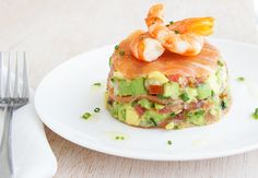 A light and refreshing summer entree.smoked salmon avocado salsa..