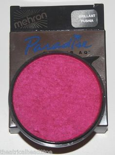 Fushia (Fuschia) - Mehron Paradise AQ Makeup Face Body Paint Metallic Tropical Pastel Basic Nuance | eBay $13.99 This professional theatrical makeup color glides evenly over skin. Several brilliant, intense colors are available. The colors are bright and exciting. Easy fingertip or brush application. Enough here for a variety of uses. And it is easy to remove.