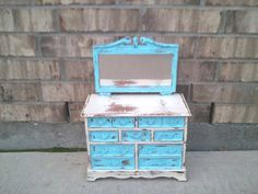 Upcycled  Vintage Wooden  WARDROBE Jewelry Box  by TimelessNchic, SOLD!
