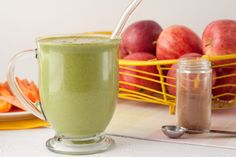 Apple Pie Green Smoothie (with cucumber, spinach, avocado) Apple Pie Smoothie, Apple Smoothies, Green Smoothies, Healthy Smoothies, Healthy Drinks, Cucumber Smoothie, Smoothie Drinks, Smoothie Recipes, Apple Recipes